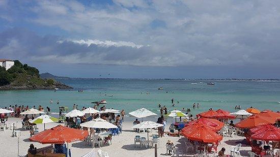 Forte Beach: Vista das barracas de restaurantes na beira praia