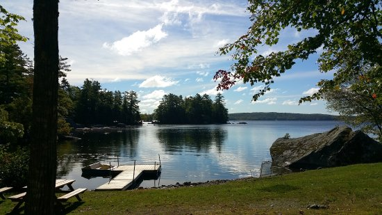 Orland, ME: View of the lake from the back.