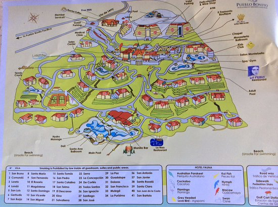 Resort Map - Picture of Pueblo Bonito Sunset Beach Golf and Spa ...