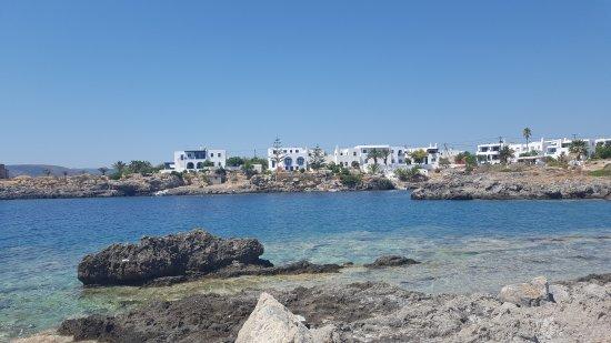 Avlemonas, Griekenland: Waar kun je met zo'n mooi uitzicht eten...?!