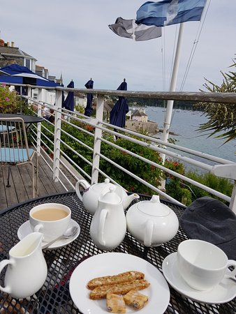 Hotel Tresanton: Tea with view