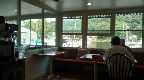 Saugatuck, MI: view from our table of the marina