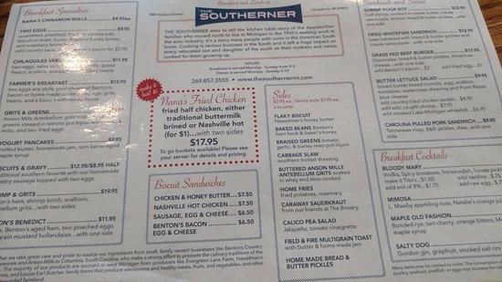 Saugatuck, MI: menu