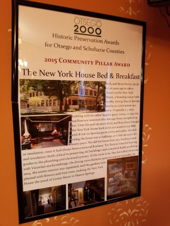 Sharon Springs, NY: Historic Preservation Award