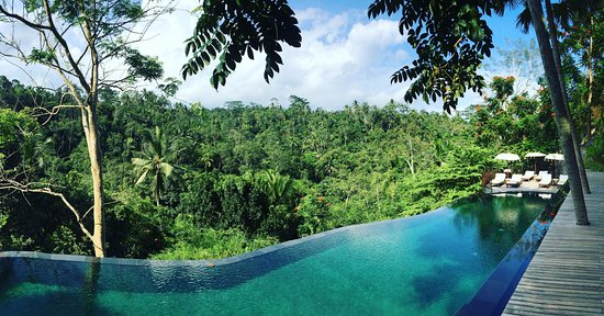 Komaneka at Tanggayuda: One of two pools available for hotel guests. Some suites also have private pools.