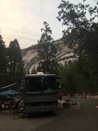 Lower Pines Campground: Royal Arches in the background