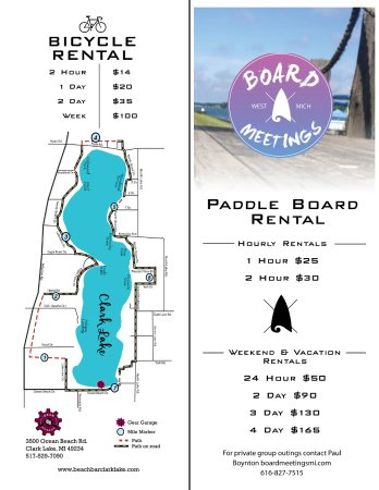 Clarklake, MI: Bicycle & Paddle board rentals