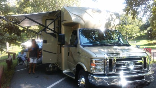 Gypsy Hill Park : Parked in a shady area near the picnic area
