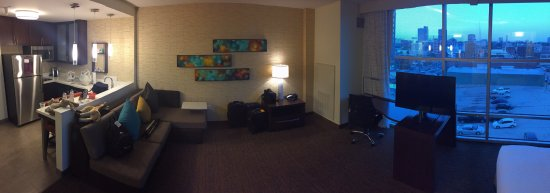 Panoramic of kitchen and living room - Picture of Residence Inn by ...