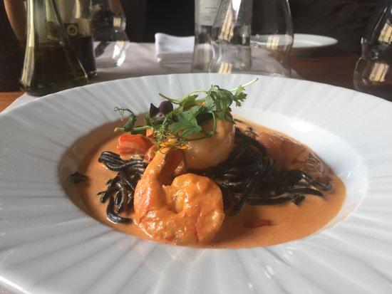 Bocca: Спагетти с креветками