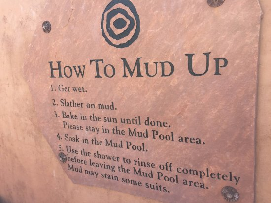 Ojo Caliente, NM: Instructions - How to Mud Up