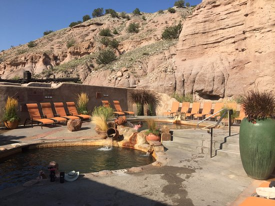 Ojo Caliente, NM: open to the hills behind
