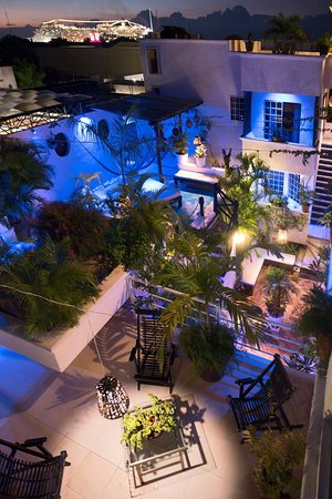 Hostelito Cozumel: aero view