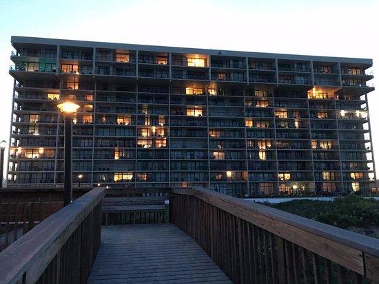 Suntide III Condominiums: pretty condo view at sunset