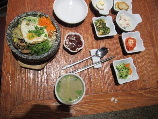 Sukhbaatar, Mongoliet: My meal bibimbap