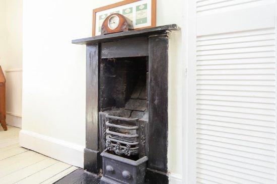 Knighton, UK: fireplace