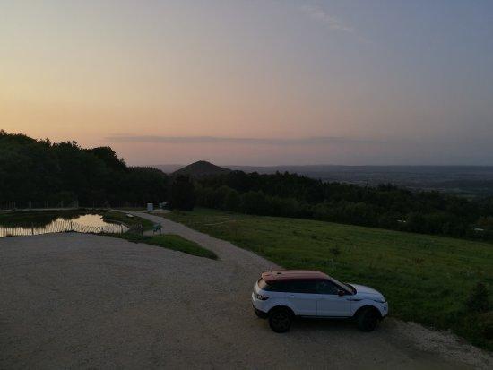 Weilheim an der Teck, Deutschland: Sunset at Deutsches Haus