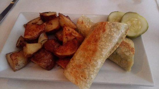 Sacred Chow : Tempeh Reuben in tortilla