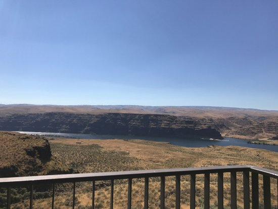 Quincy, WA: View from our second story King Cave Room Balcony