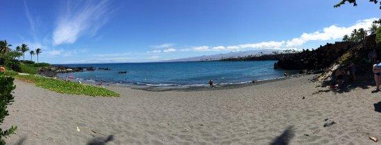 Waikoloa, HI: Panoramic view of 49 Black Sand Beach