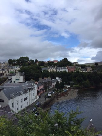 Medina: View of Portree from the opposite side of town.