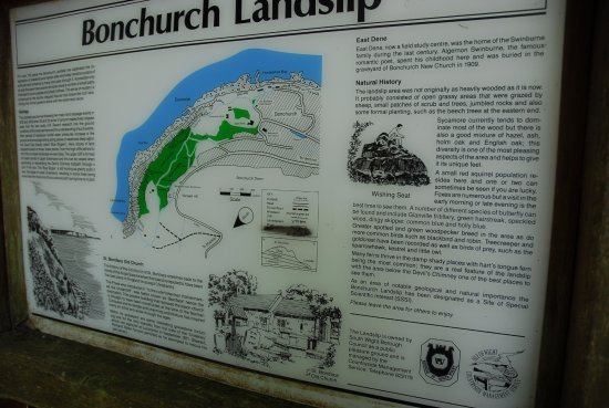 Bonchurch, UK: Landslip guide map
