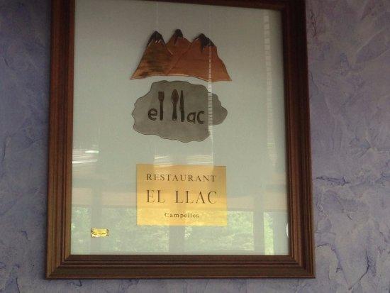 """Campelles, Spain: Restaurant """"El Llac"""""""