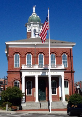 Exeter Town Hall is across the street from the Inn