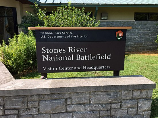 Stones River National Battlefield: Sign at Stones River Battlefield Visitor Center