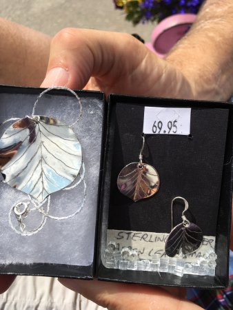 Silverton, CO: Silver aspen leaf necklace and earrings. It was end of season so I got both for $70