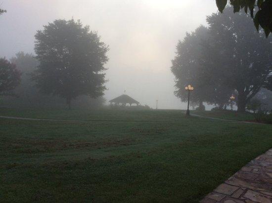 Young Harris, GA: Foggy morning