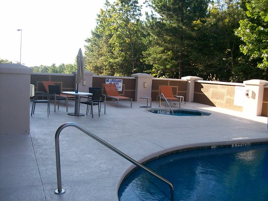 Anderson, SC: The Outdoor Pool Area and the Patio Seating
