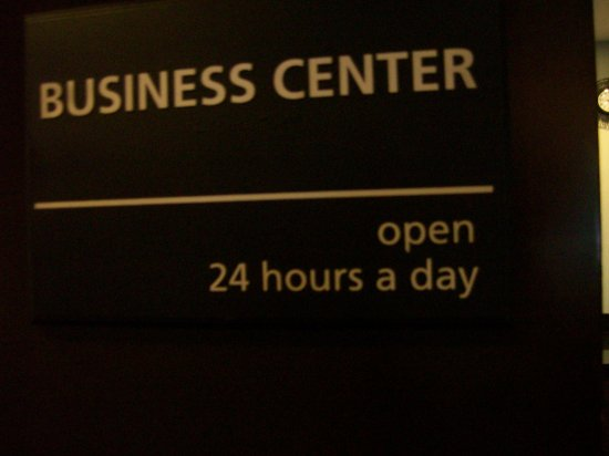 Anderson, SC: Hotel Signage for the Business Center and Hours.