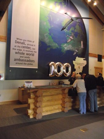 Denali Visitor Center: ALASKA - DENALI – MAIN VISITOR CENTER #1 – RANGER DESK