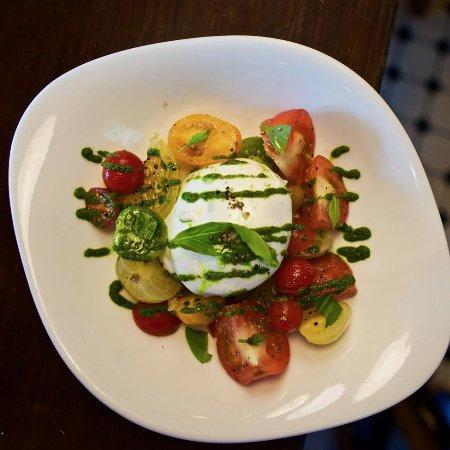 London House: Burrata and Tomato salad