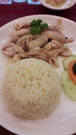 TTK Authentic Singapore: yummy chicken rice. The rice itself is very savory