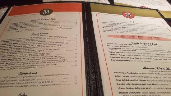 Mike's American Grill: menu