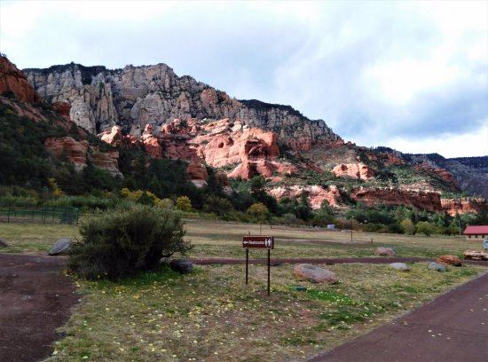 Slide Rock State Park, after walking into the park a little way
