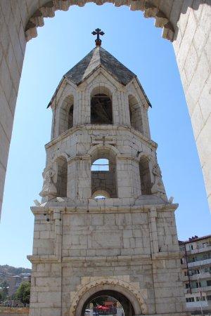 Shusha, Azerbaijan: Ghazanchetsots Cathedral - from the entrance