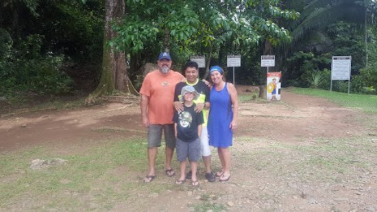 Placencia, Belize: group (family) shot w.Orlando (who sent us pics from inside the cave.so cool!
