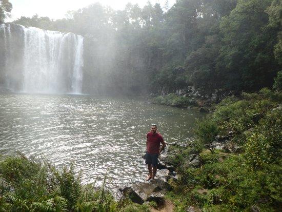 Kerikeri, Nouvelle-Zélande : Spray from the falls