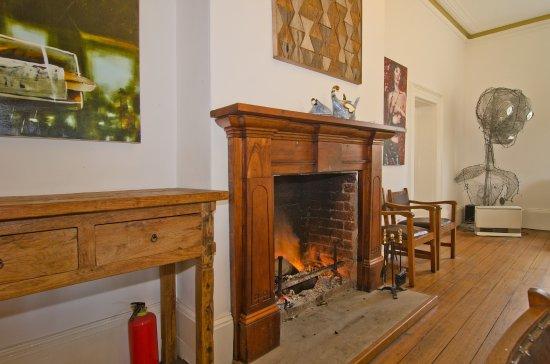 Risdon, Australia: The Dining room open fire.