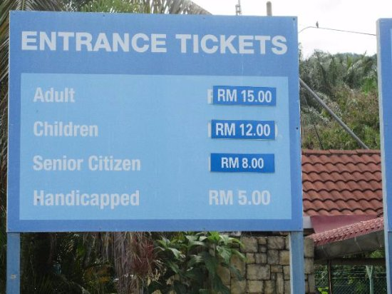 Sungkai, Malaysia: the entrance ticket fee