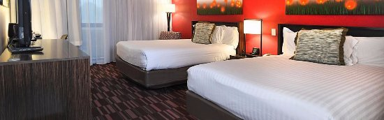 Irving, TX: Two Queen Bed Guest Room Featuring your Choice of Firm or Soft Pillows.