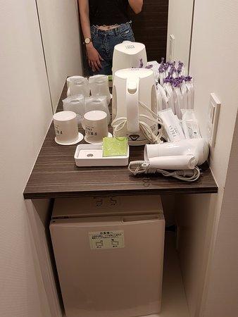 Sotetsu Fresa Inn Shimbashi Hibiyaguchi : in room facilities (coffee maker,hair dryer,women kit)