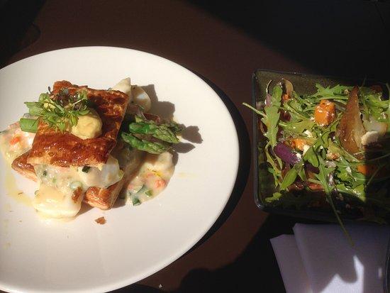 Latitude 30: The originally presented Seafood Pie and Pumpkin Salad