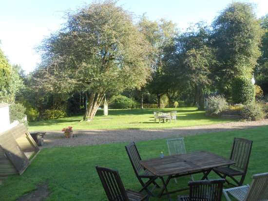 Kings Nympton, UK: The gardens - friendly ducks, dogs and cats included!