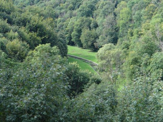 Chateau de Modave : vue de la terrasse