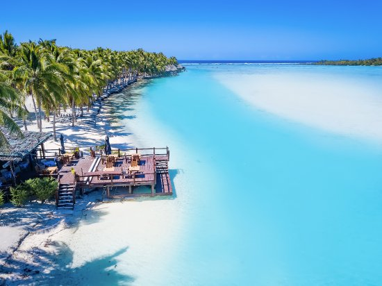Flying Boat Beach Bar & Grill has the best views on Aitutaki - breakfast, lunch and dinner.