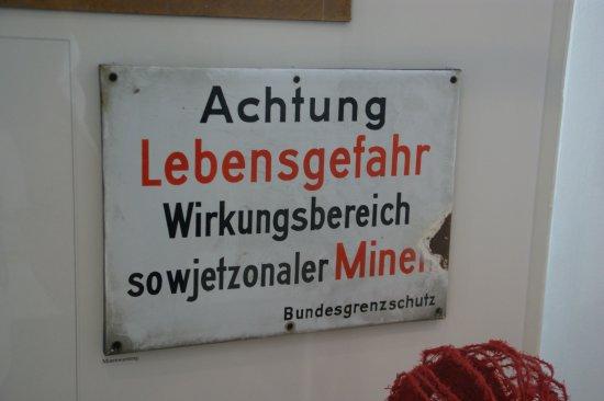 Helmstedt, Germany: zeer gevaarlijke grens